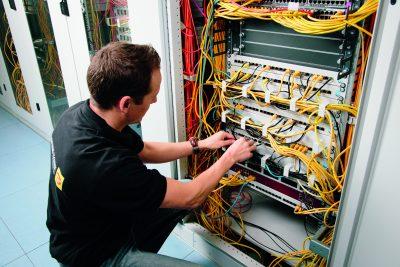Schaltschrank eines gewerblichen Kunden von der Elektro Morjan oHG